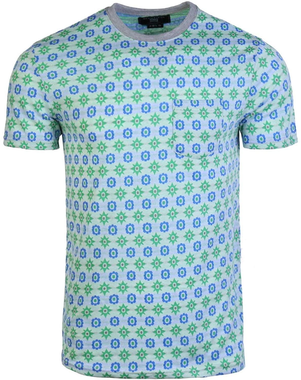 Beautiful Giant Men's Full Jacquard Pattern Casual Cotton Pocket T-Shirt