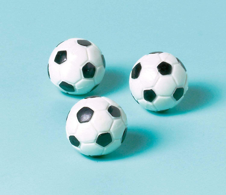 amscan Soccer Bouncing Balls, Party Favor, 12 Ct., Multicolor, 31 mm (11012351)