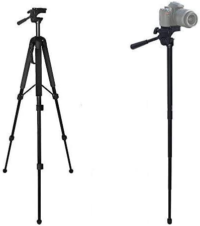 "68"" Elite Series Professional Heavy Duty Convertible Tripod/Monopod for DSLR Cameras & Camcorders + eCost Microfiber Cloth"