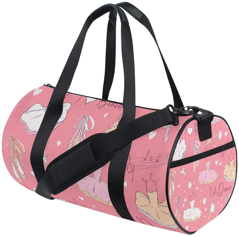 Girl Duffle Bag, Dance Duffle Bags for Girls Kids Gym Bag Ballerina And Accessories