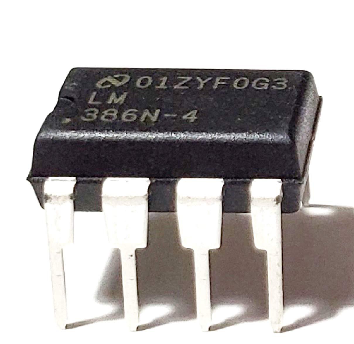 Juried Engineering LM386N-4/NOPB LM386N-4 LM386 Wide Input Voltage Low Power Audio Amplifier with Internal Gain DIP-8 Breadboard-Friendly (Pack of 15)
