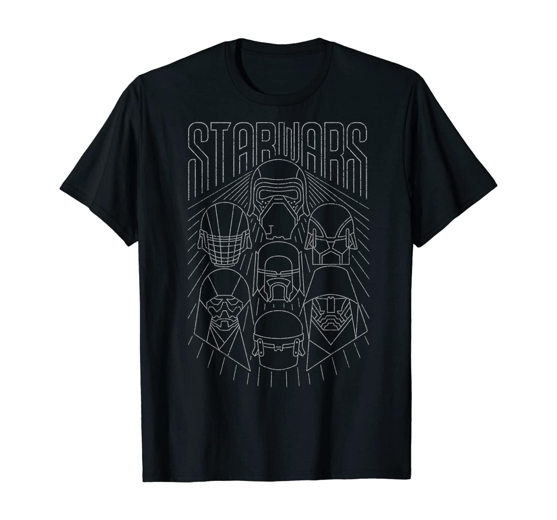 Star Wars The Rise of Skywalker Dark Side Line Art T-Shirt