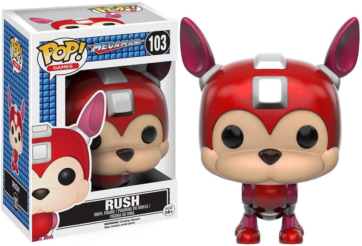 Funko Rush: Mega Man x POP! Games Vinyl Figure & 1 POP! Compatible PET Plastic Graphical Protector Bundle [#103 / 10347 - B]