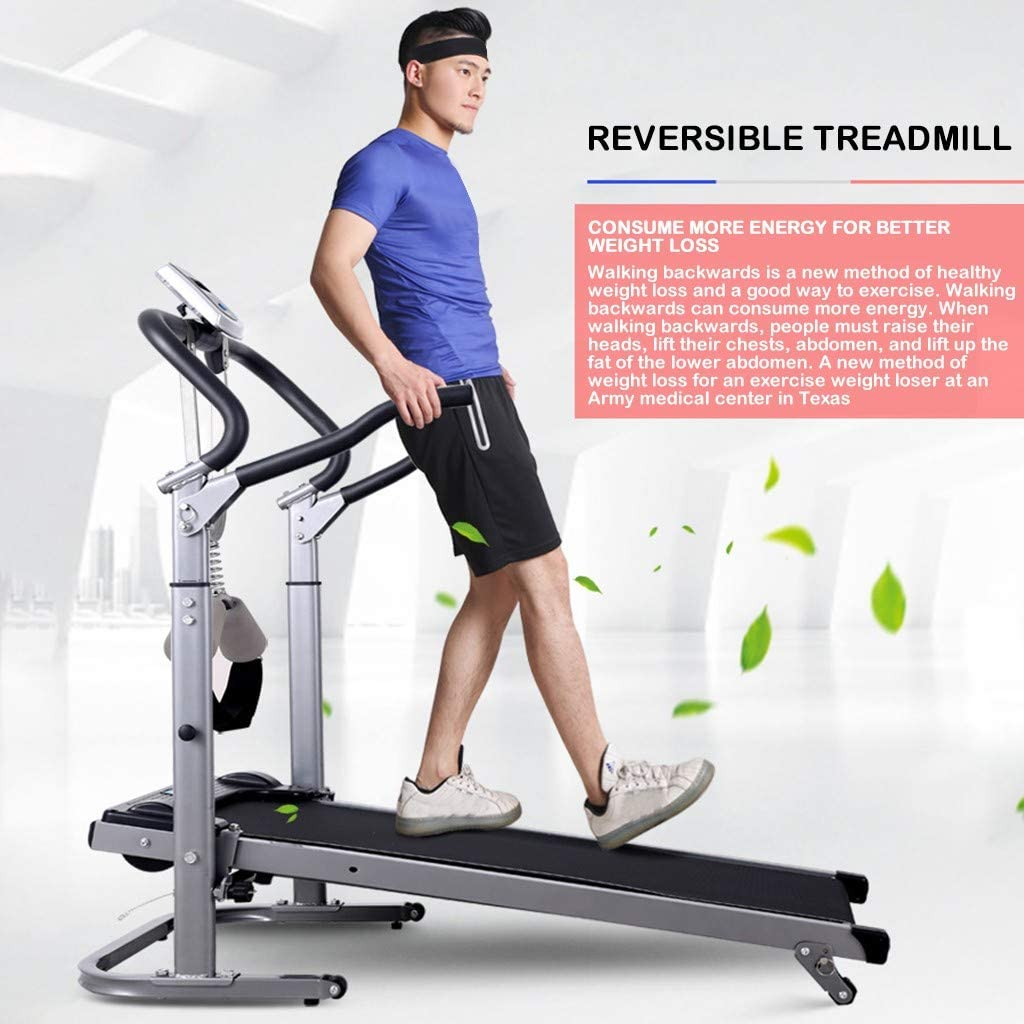 Fiudx Treadmills for Home,300 lbs Weight Capacity,Folding Mechanical Treadmill, Multifunctional Long and Widened Version of Shock-Absorbing Walking Runing Machine with LED Display