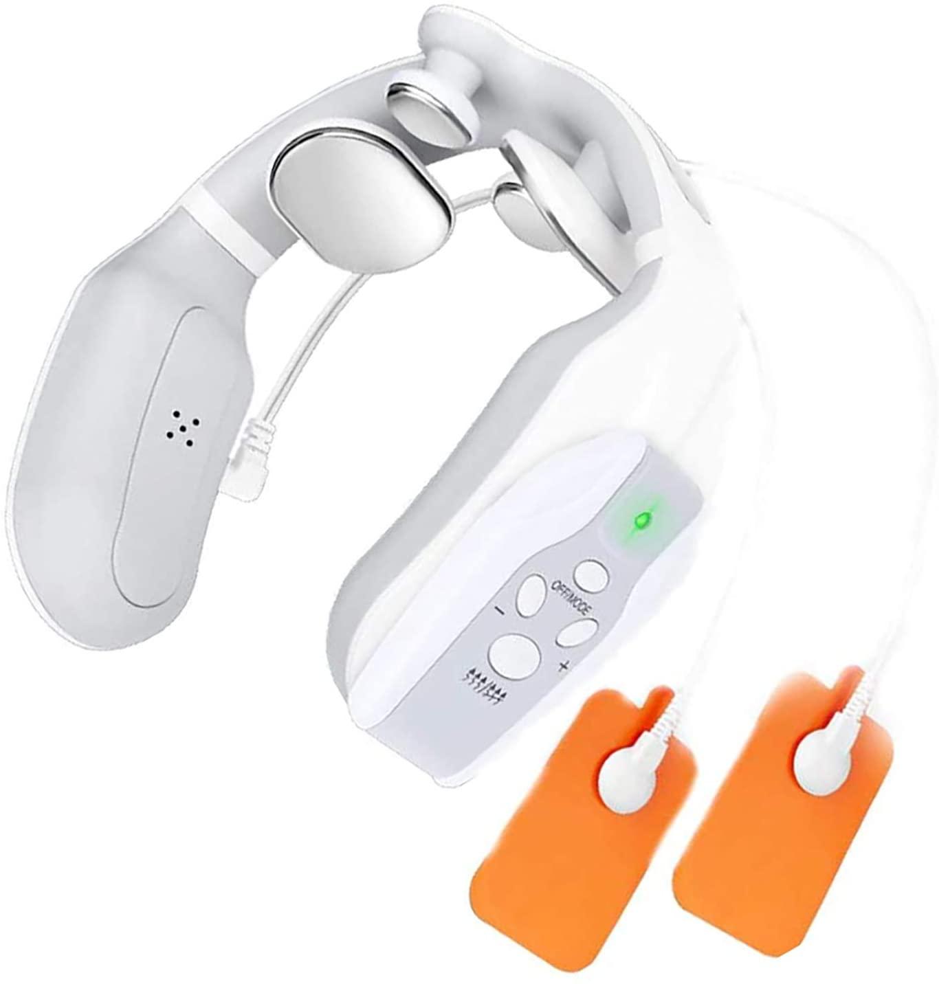JAOCDOEN Neckology, Intelligent Neck Massage with Heat Portable Wireless Massage Equipment with 3 Modes for Women, Man