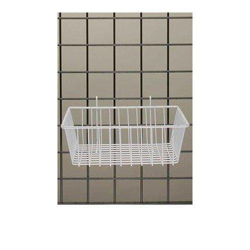Mini Wire Grid Basket in White Powder Coat 12 L x 12 W x 4 D Inches