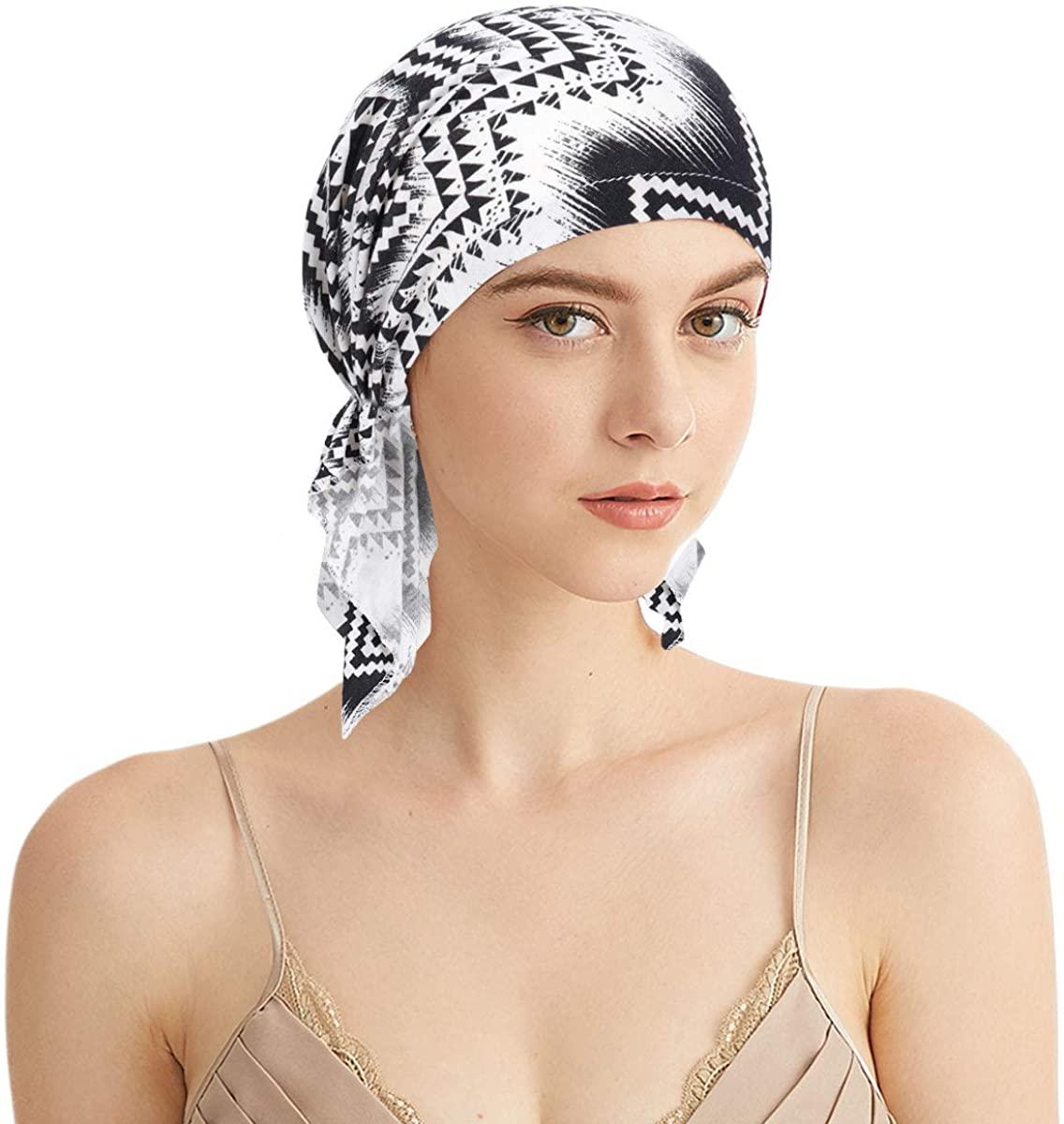 Chemo Head Scarf - Bandana Beanie Cap Pre Tie Skull Cover Cap Chemo Headwear Scarves for Cancer Hair Loss
