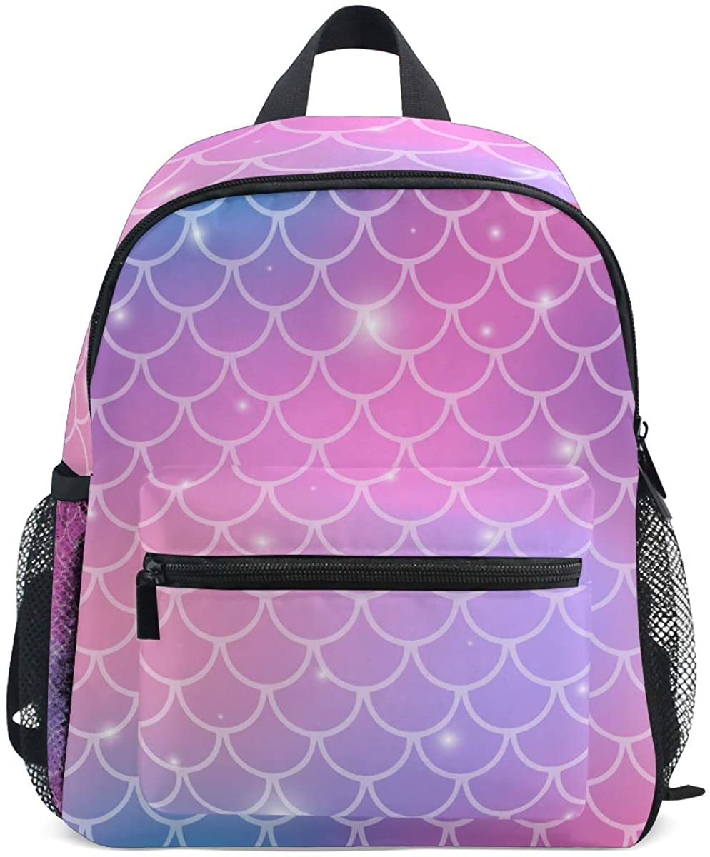 Upgraded Backpack for School Teenagers Girls Boys Magic Mermaid Unicorn Travel Bag with Chest Buckle and Whistle(A)