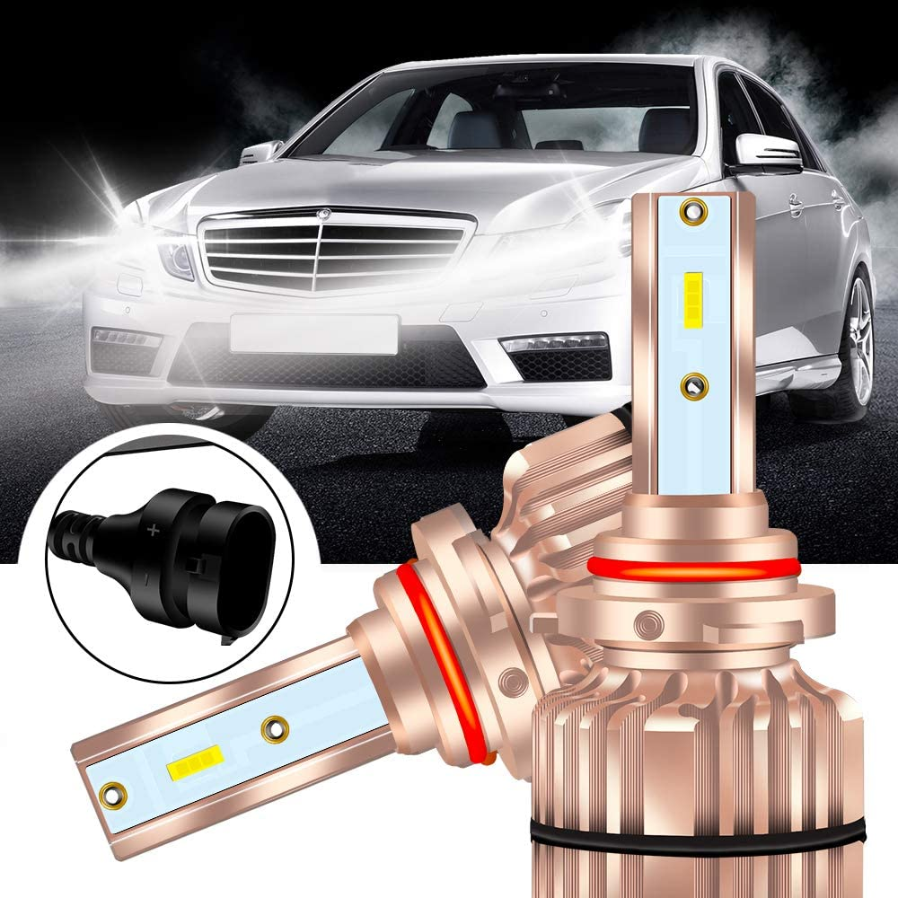 KaiDengZhe 9005 HB3 Super Bright LED Headlight Bulb Xenon White 85W 6000K Car LED Front headlights bulb Halogen Headlight Replacement Low/High Beam Conversion Kit with Cooling Fan(pack of 2)