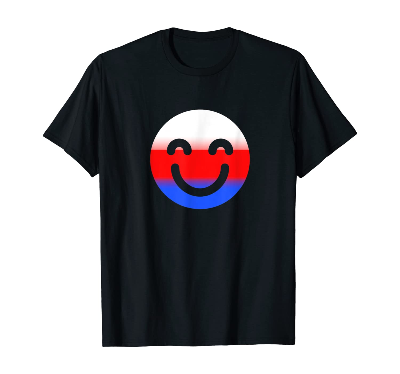 Smiling Emojis American Flag Color Patriotic 4th Of July T-Shirt