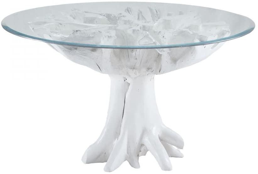 Dimond-White Teak Root Entry Table-7011-004