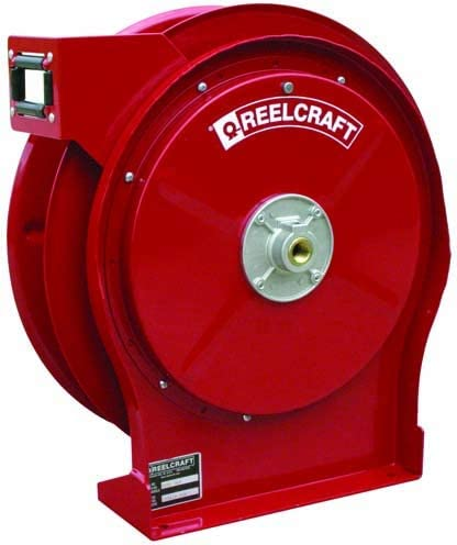 Compact Hose Reel for Medium Pressure Oil - Designed for Use With 3/8 in x 35 ft Hose, 3000 psi, 3/8 NPT - Female Inlet, 3/8 NPT - Female Outlet