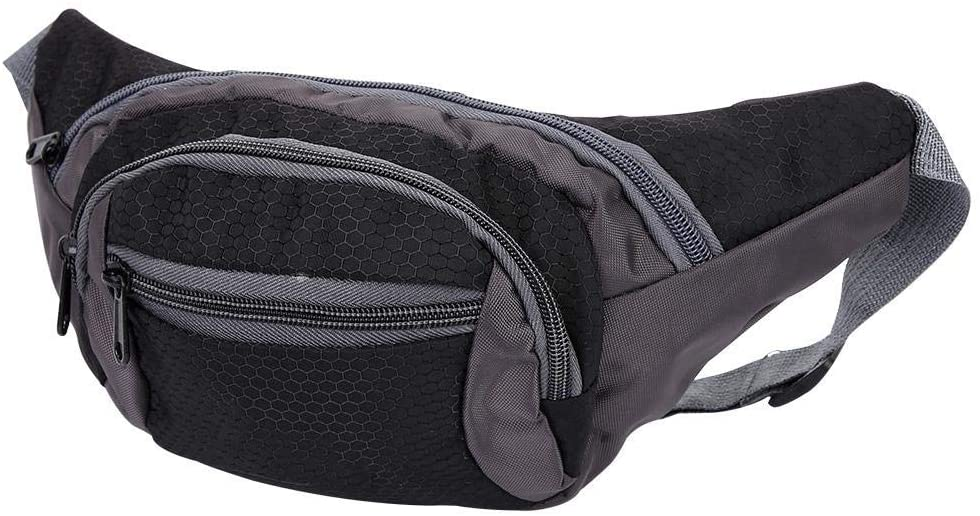 Parluna Large Capacity Waterproof Lightweight Running Pouch, Nylon Waist Pouch Bag, for Men Hiking Use Outdoor Use Women