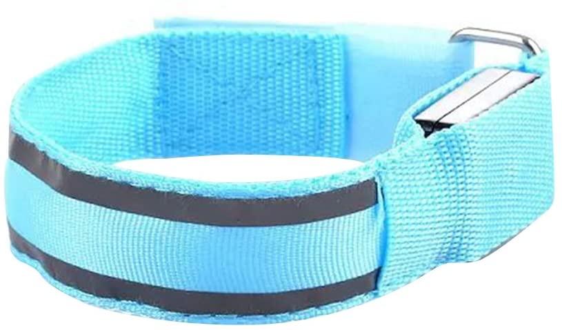 WINOMO Safety LED Armband Night Cycling Jogging Walking Double Reflective Armband(Blue)