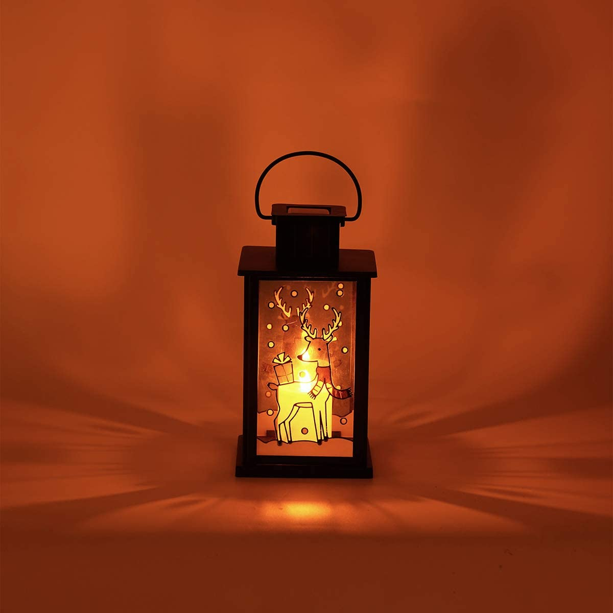 Solar Lantern,Outdoor Garden Hanging Lanterns,Waterproof LED Flickering Flameless Candle Mission Lights for Table,Outdoor,Party Decorative