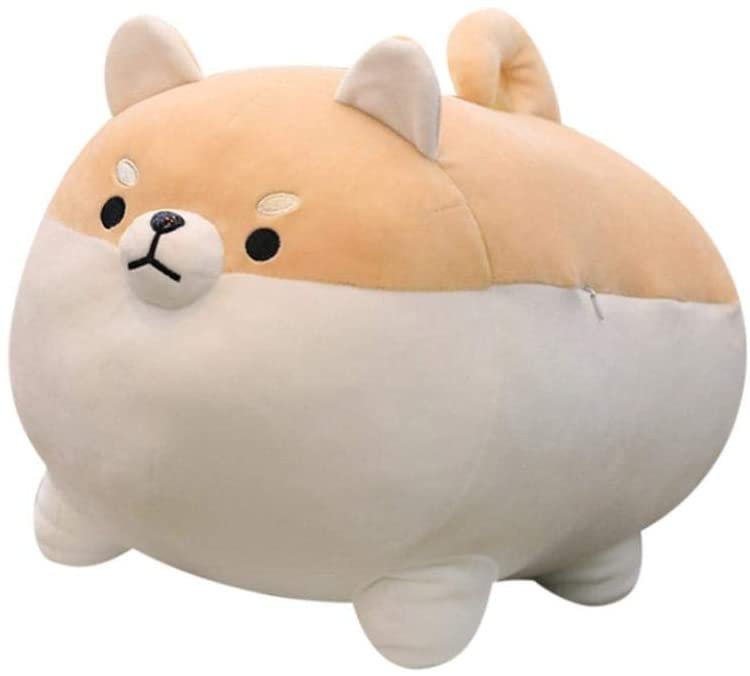 QIQIQIQI Dog Plush Pillow, Anime Plush Stuffed Pillow Doll Cartoon Dog Cute Shiba Soft Toy,Plush Toy Best Gifts for Girl Boys/Girls (Brown , Sizes: 50 cm)