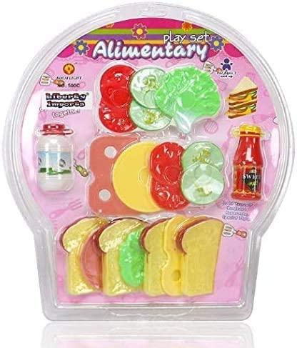 Exclusive Cyber Distributors 16 Piece Club Sandwich Toy Food Playset