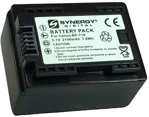 Synergy Digital Camcorder Battery, Works with Canon VIXIA HF R52 Camcorder, (li-ion, 3.7V, 2100 mAh) Ultra Hi-Capacity Battery
