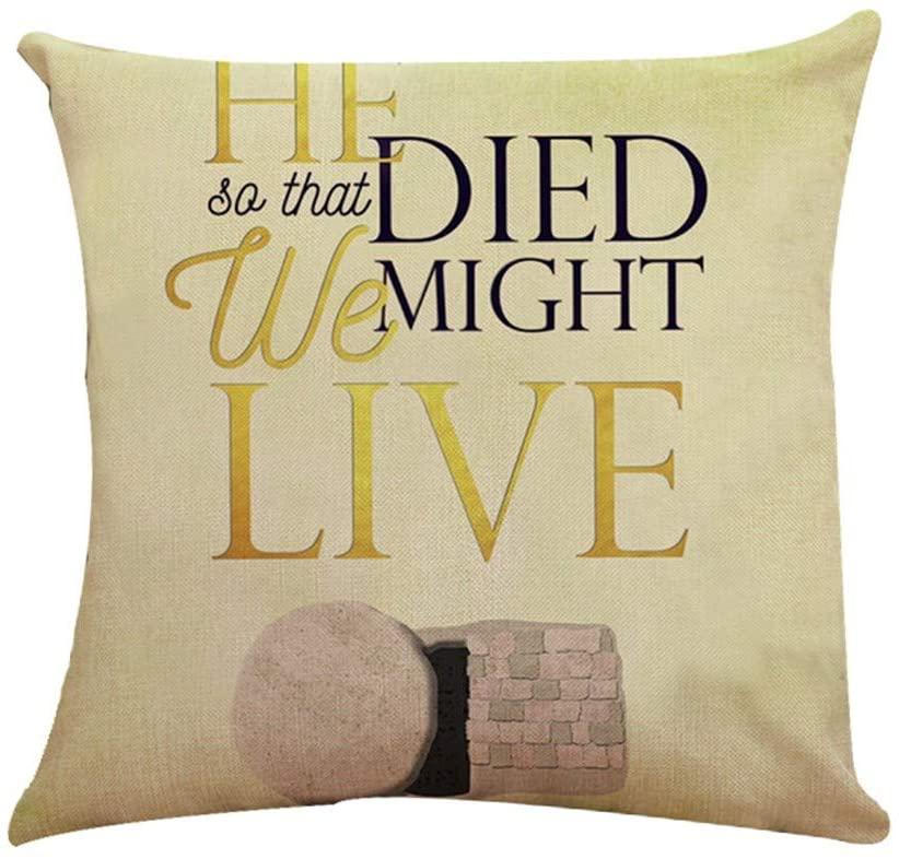 WOMENQAQ Letter Print Pillow Case Polyester Sofa Car Cushion Cover Home Decor (E)