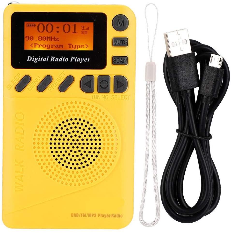 Caredy Pocket Radio, Ultra-Light Stereo DAB Radio, Micro USB with 1.44