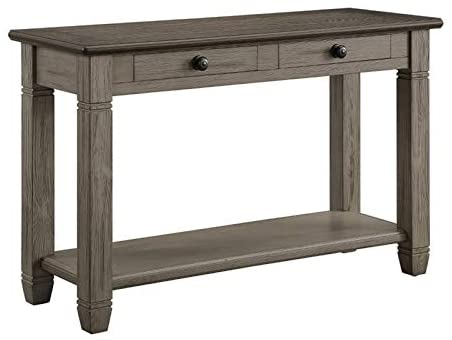 Lexicon Granby Wood 2 Drawer Console Table in Antique Gray