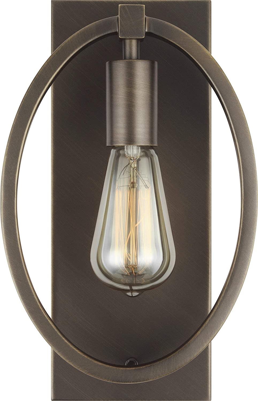 Feiss WB1847ANBZ Marlena Wall Sconce Lighting, Bronze, 1-Light (8