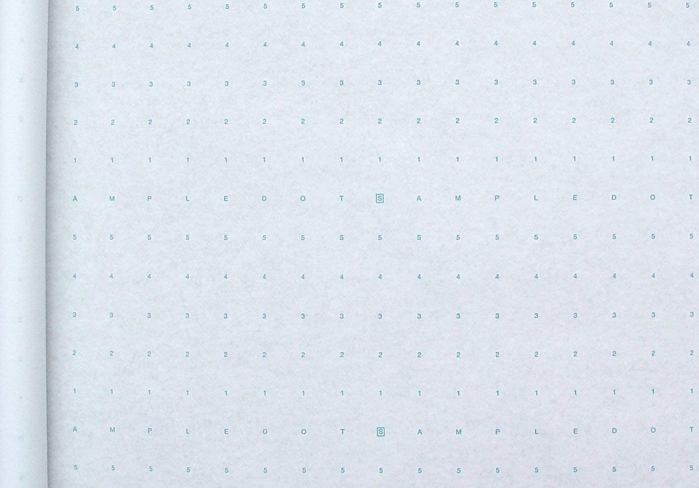Roll of Alpha Numeric Dotted Marking Paper/Pattern Paper (48 inches x 06 Yards) Optimum Performance - Made in The USA
