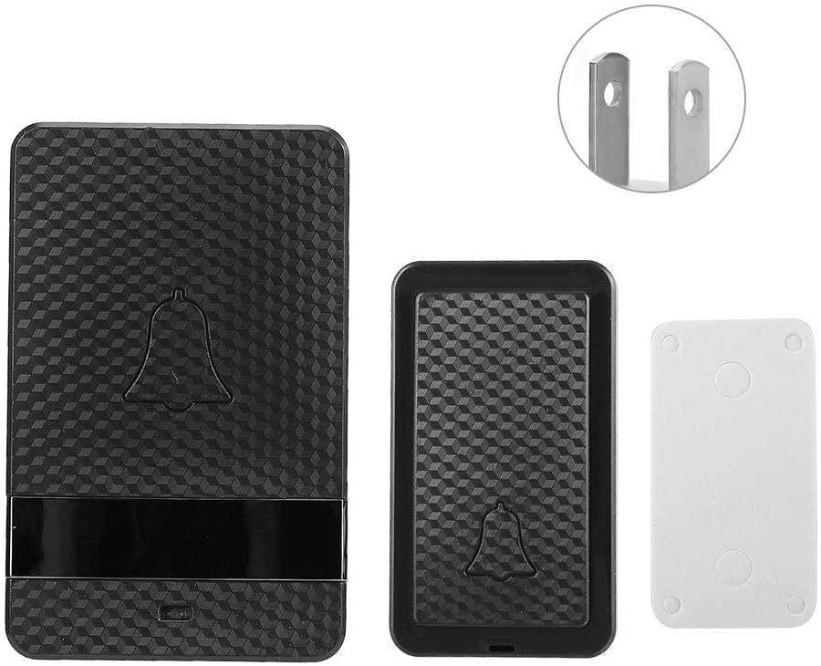 Doorbell Wireless Doorbell, Wireless Waterproof Doorbell Self-powered Adjustable Volume Door CD andf Quality Sound and LED Flash(3 Emitter 3 Receiver US)