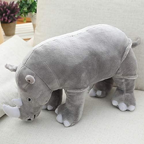 YUNZHI Plush Toys, 40cm Giant Plush Rhinoceros Toys Lifelike Stuffed Animal Pillow Zoo Dolls Baby Cushion Kids Appease Toy Girl Birthday Gift 40cm,Size Name:40cm,Colour Name:Pink