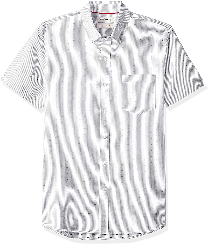 DHgate Brand - Goodthreads Men's Standard-Fit Short-Sleeve Dobby Shirt