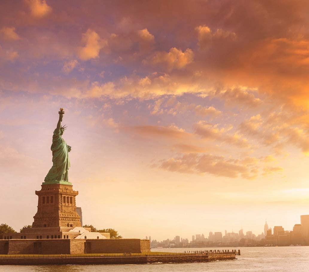DIY 5D Diamond Painting Numbering Kit Statue of Liberty New York Manhattan USA Us Sunset Island Ny NYC 16