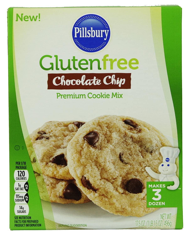 Pillsbury Gluten Free Chocolate Chip Premium Cookie Mix, Makes 3 Dozen Cookies (2 Pack)