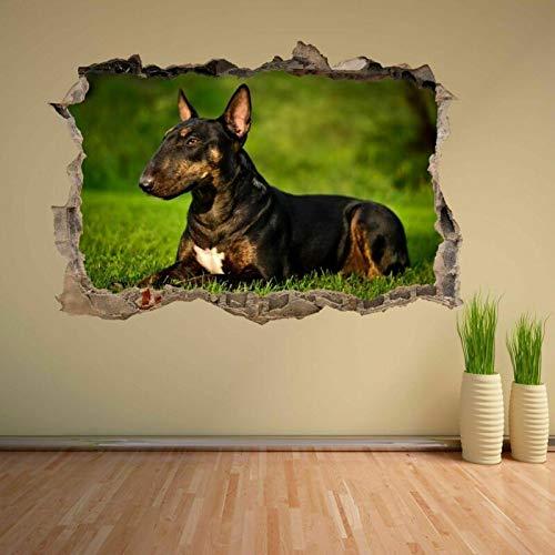 Bull Terrier Dog Animal 3D Wall Sticker Mural Decal Kids Bedroom Home Decor CV17