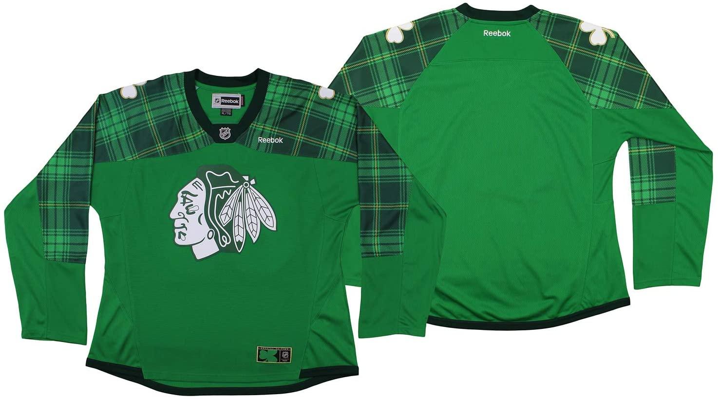 Reebok Chicago Blackhawks NHL Women's St. Patty's Day Jersey, Green