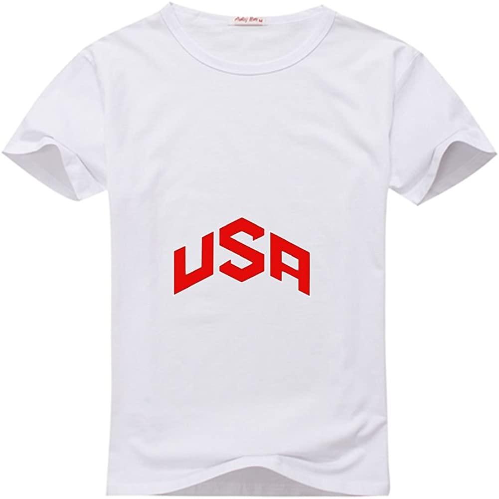 Ashli Flolida shopings 11USA red Logo for Men's Printed Short Tee Tshirt