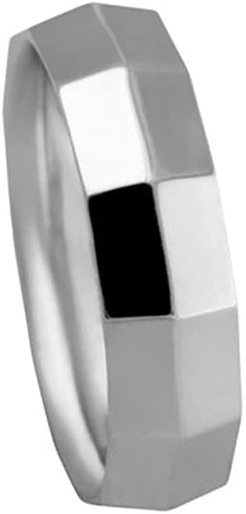 American Set Co. Men's PLATINUM 950 KNIFE EDGE BOX CUT 6mm COMFORT FIT WEDDING BAND