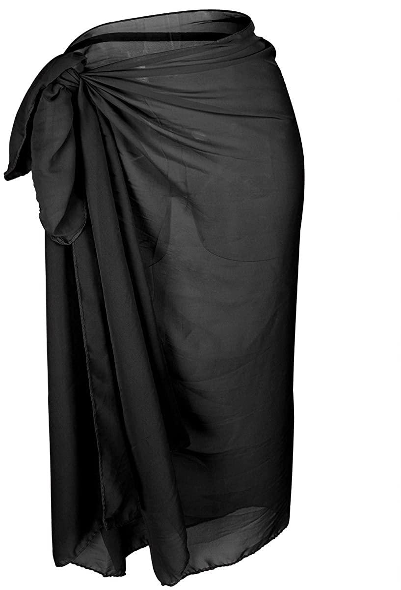 Ypser Women's Chiffon Swimwear Bikini Cover Ups Sarong Swimsuit Wrap Beach Maxi Skirt