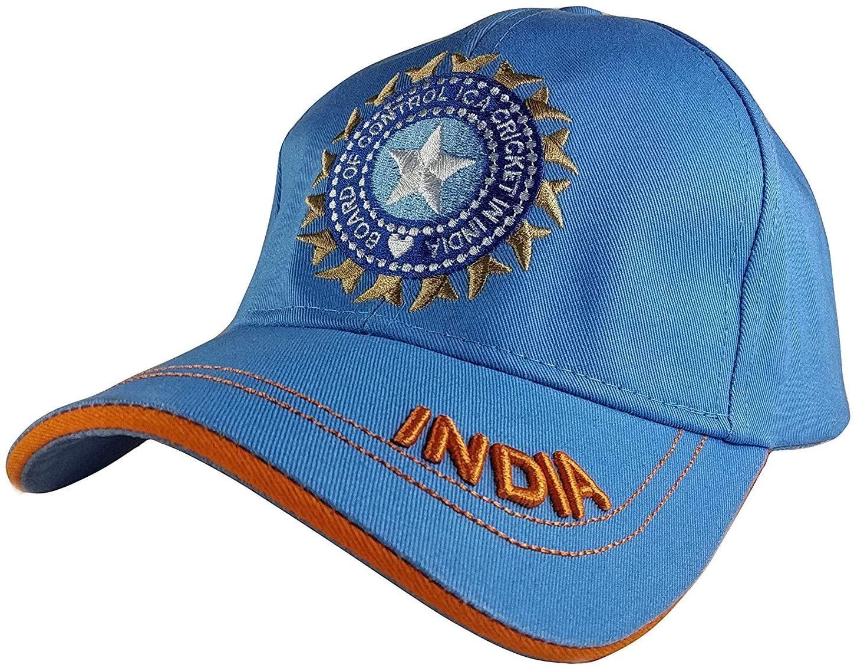 Men's Cotton Military ODI Test Ipl Indian Cricket Adjustable Army Cap (Blue, Free Size)
