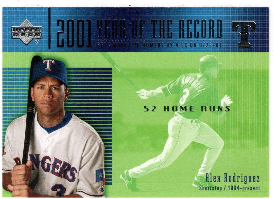 Alex Rodriguez YR Team: - Texas Rangers - Year of The Record (Baseball Card) 2002 Upper Deck # 732 Mint