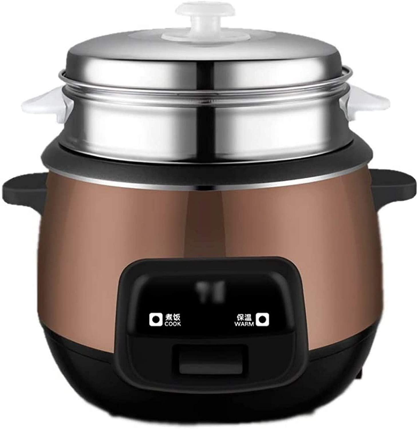 XH&XH Rice Cooker (1.5L-4L) Smart Home Insulation Quality Multi-Function Quality Internal Spoon Steamer and Measuring Cups Small appliances can accommodate up to 1-6 People (Color: Size B: 4L)
