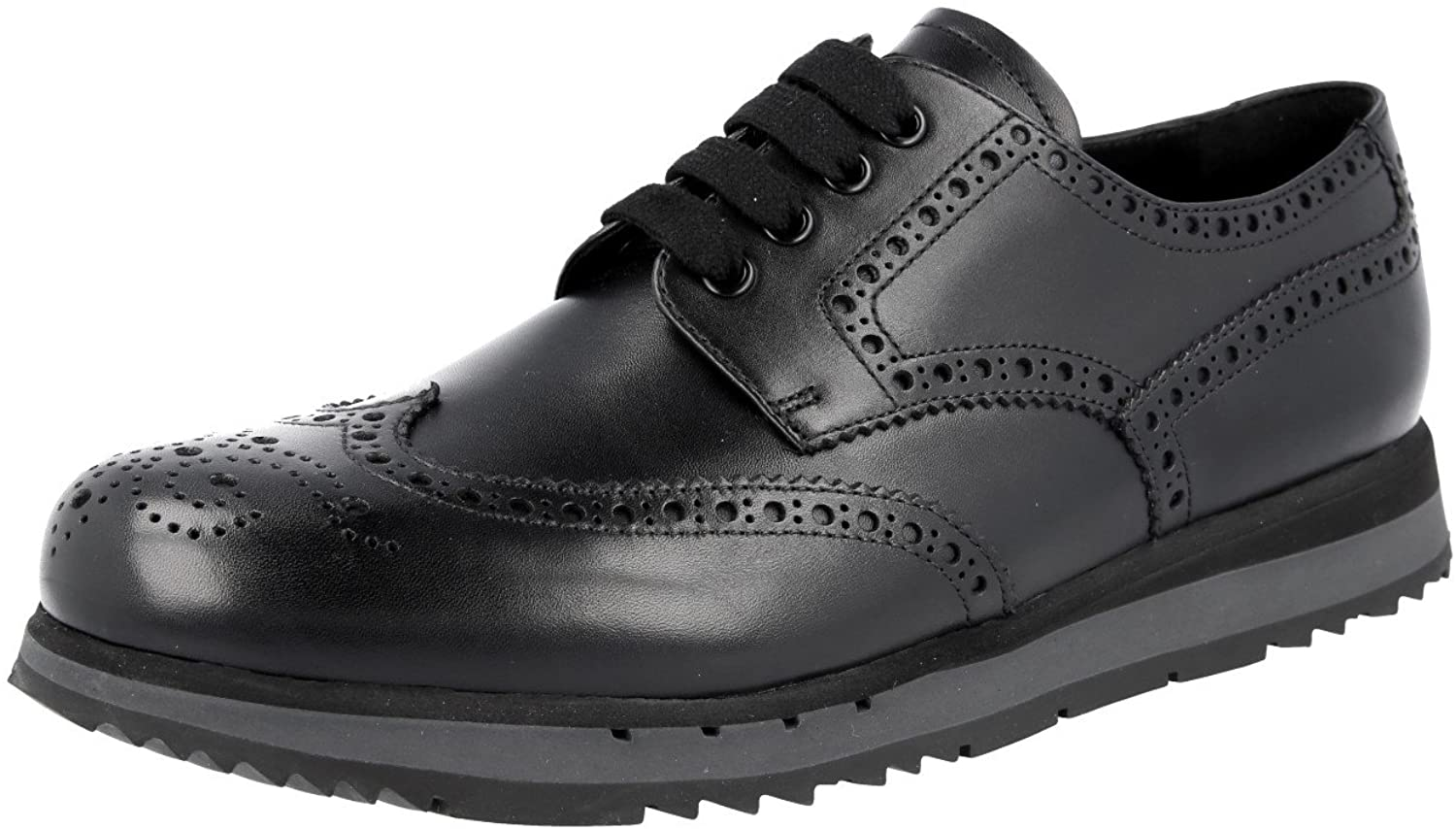 Prada Men's 4E2604 Full Brogue Leather Business Shoes