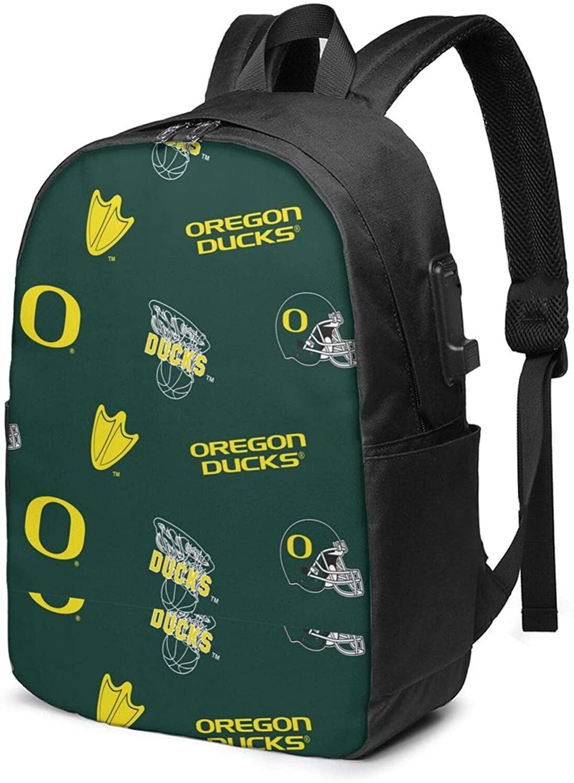 Corrine-S Old Dominion University USB Backpack 17-Inch Laptop Backpack Adjustable Shoulder Strap Men and Women Outdoor Bag