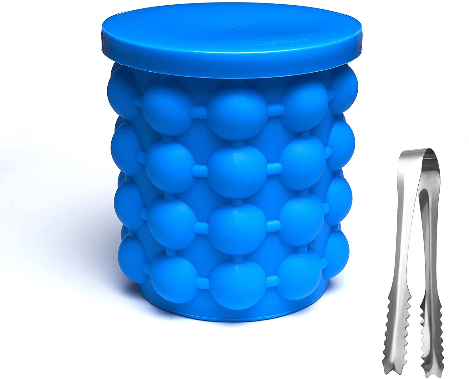 Ice Cube Genie Silicone Bucket As Minifridge/Freezer Maker,Flexible And High Capacity(send one ICE TONGS.)