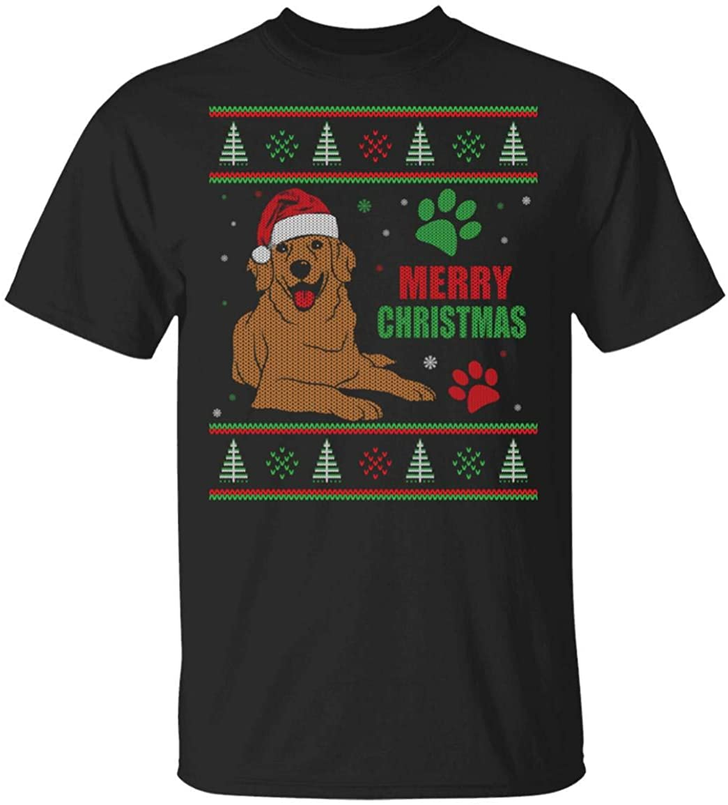 Golden Retriever Ugly Christmas T-Shirt for Christmas Hoodie Sweatershirt Custom