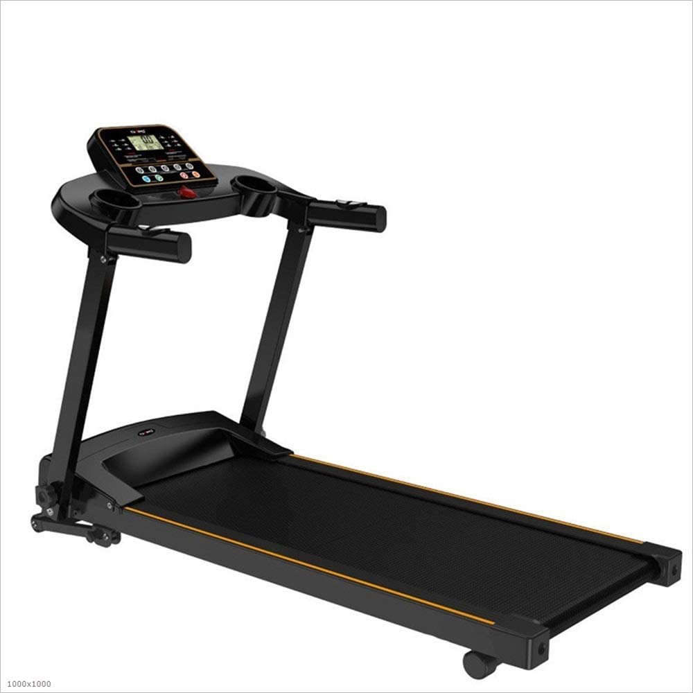 QERNTPEY Treadmill Running Machine Household Ultra-Quiet Fitness Folding Single Function Free Installation Electric Space Saver Indoor Fitness (Color : Black, Size : 117x60x136cm)