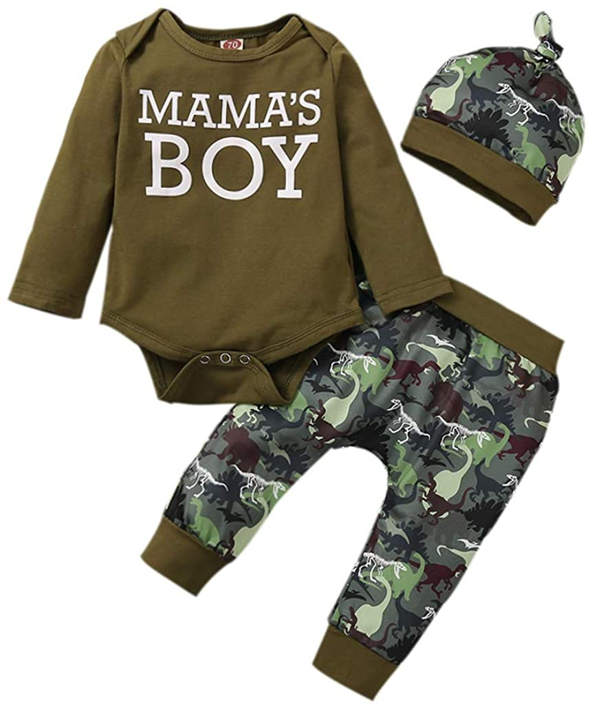Newborn Baby Boy Clothes Little Brother Short Sleeve Bodysuits Pants +Hat 3 Pieces Outfit Set