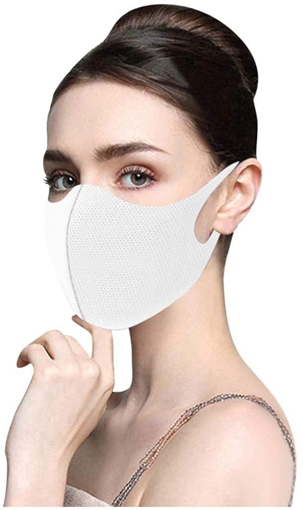 Reusable Fabric Face Bandana Washable Solid Plain Cloth for Adults Unisex