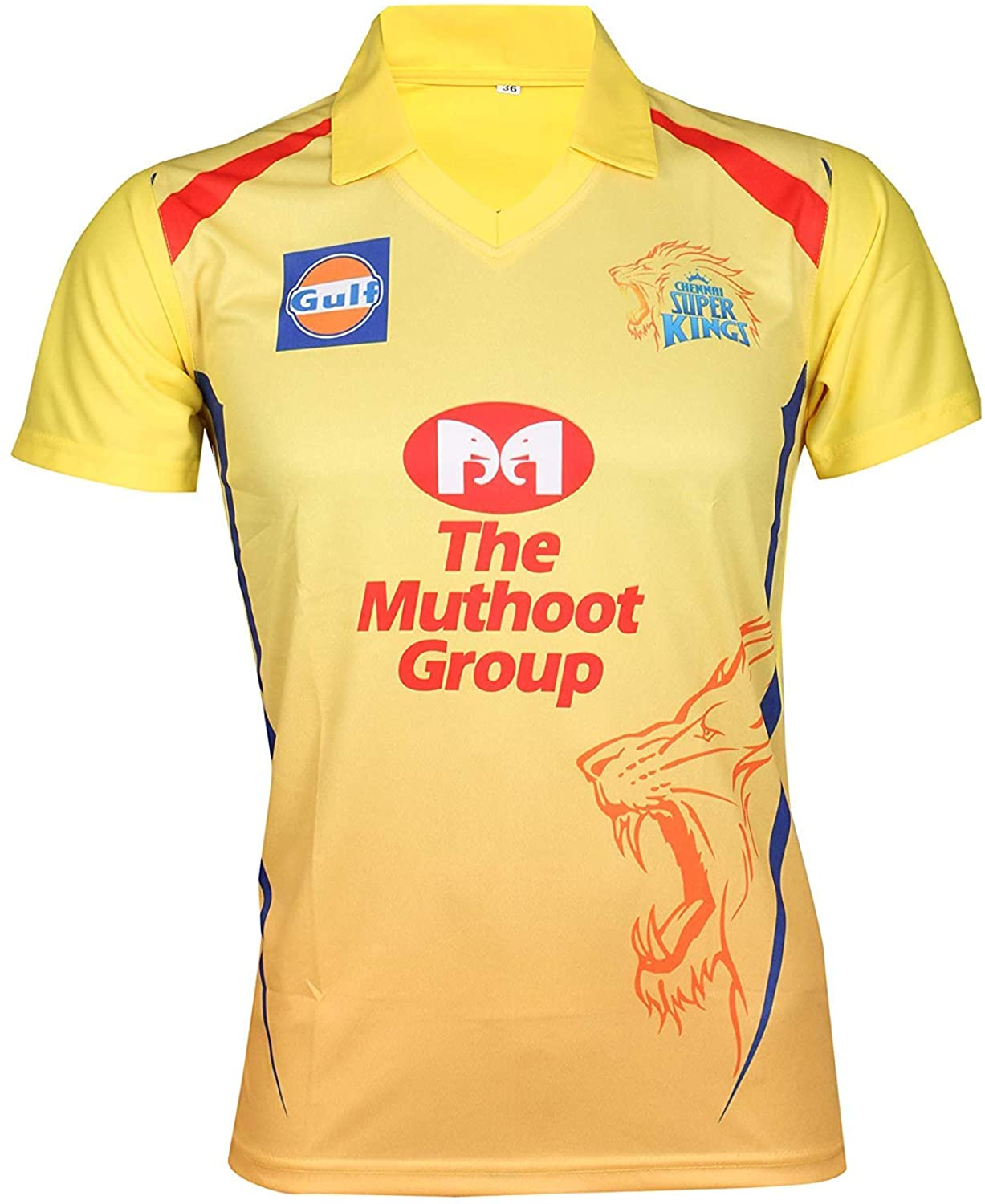 KD Cricket IPL Custom Jersey Supporter Jersey T-Shirt 2020 with Your Choice Name and Number Print (CSK,44)