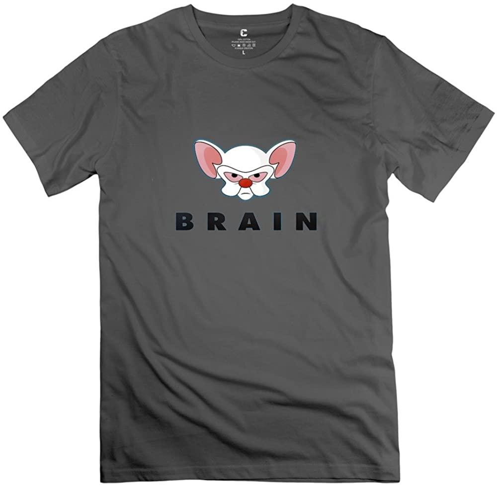 Men Pinky and The Brain Custom Causal RoyalBlue T-Shirt by Mjensen