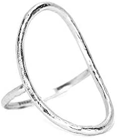 Pura Vida Silver-Plated Oval Open Ring - Matte Finish, Brass Band, Sizes 5-9